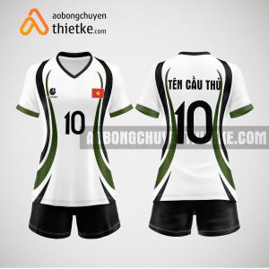 Mẫu áo bóng chuyền thiết kế họa tiết đẹp BCTK4 Nữ