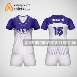 Mẫu áo bóng chuyền thiết kế màu Tím Lavender BCN2