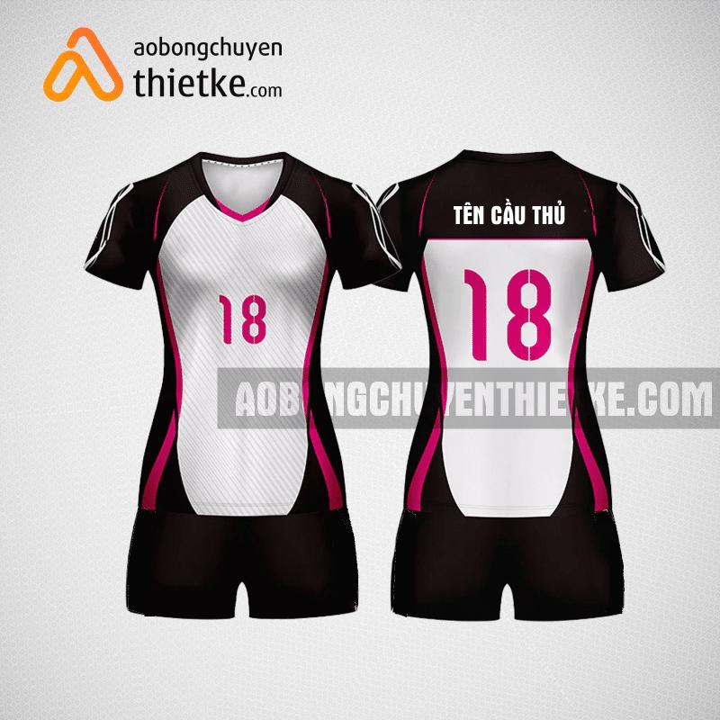 Mẫu áo bóng chuyền thiết kế màu hồng Rose BCN1