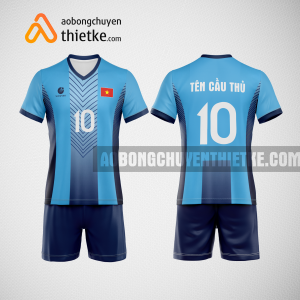 Mẫu áo bóng chuyền thiết kế màu xanh biển BCTK2 Nam