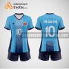 Mẫu áo bóng chuyền thiết kế màu xanh biển BCTK2 Nữ