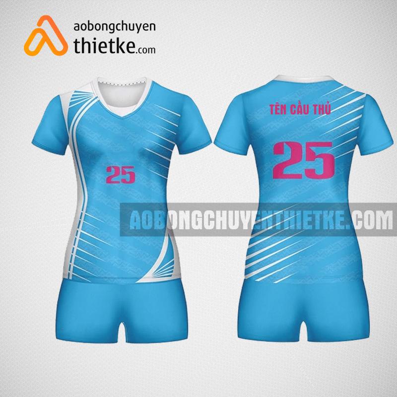 Mẫu áo bóng chuyền thiết kế màu xanh tại Hà Nội BCN3