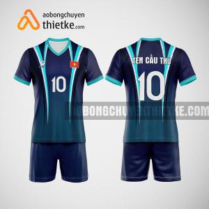 Mẫu áo bóng chuyền thiết kế màu xanh tím than BCTK3 Nam