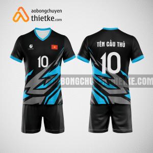 Mẫu áo bóng chuyền thiết kế màu xanh xám BCTK1 Nam