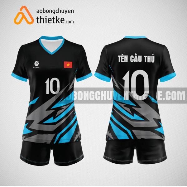 Mẫu áo bóng chuyền thiết kế màu xanh xám BCTK1 Nữ