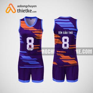 Mẫu áo bóng chuyền thiết kế nam màu tím BCA2
