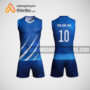 Mẫu áo bóng chuyền thiết kế nam màu xanh BCA1