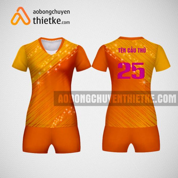 Mẫu áo bóng chuyền thiết kế nữ màu can tại TP Hồ Chí Minh BCN6