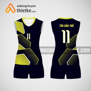Mẫu áo bóng chuyền thiết kế nữ màu vàng đen tại TP Hồ Chí Minh BCN7