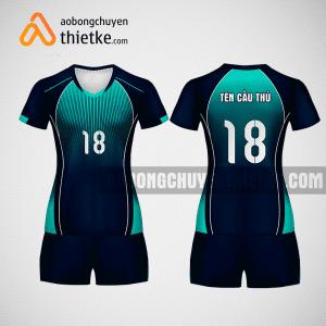 Mẫu áo bóng chuyền thiết kế nữ màu xanh tím than BCU8