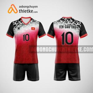 Mẫu quần áo bóng chuyền thiết kế đẹp màu đỏ đen BCTK6 Nam