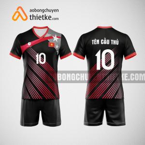 Mẫu quần áo bóng chuyền thiết kế màu đỏ đen BCTK6 Nam