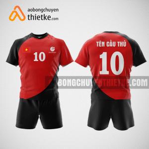 Mẫu quần áo bóng chuyền thiết kế nam màu đỏ BCA4