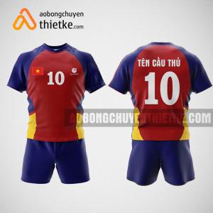 Mẫu quần áo bóng chuyền thiết kế nam màu đỏ đô BCA5