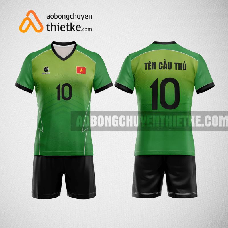 Mẫu áo bóng chuyền thiết kế cp màu xanh lá BCTK39 nam