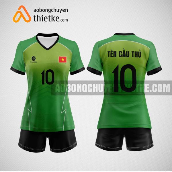 Mẫu áo bóng chuyền thiết kế cp màu xanh lá BCTK39 nữ