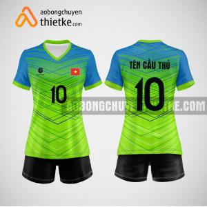 Mẫu quần áo bóng chuyền đẹp và độc green BCTK21 nữ