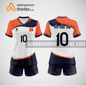 Mẫu quần áo bóng chuyền màu cam dẹp BCTK44 nữ