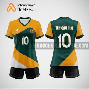 Mẫu quần áo bóng chuyền thiết kế Golden rice flower BCTK34 nữ