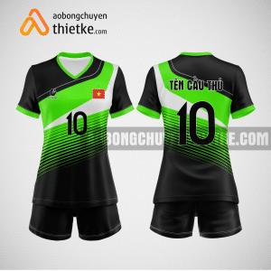 Mẫu quần áo bóng chuyền thiết kế Ninh Bình Green BCTK16 nữ