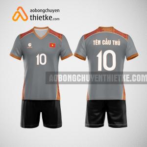 Mẫu quần áo bóng chuyền thiết kế màu xám Hà Nội Actic BCTK32 nam