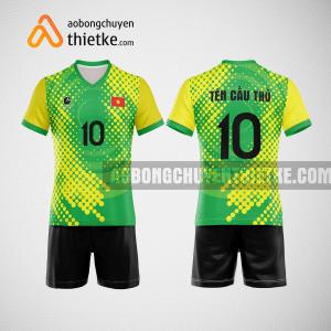 Mẫu quần áo bóng chuyền thiết kế vàng xanh greenco BCTK37 nam