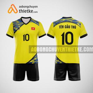Mẫu quần áo bóng chuyền việt nam thiết kế màu vàng BCTK36 nam