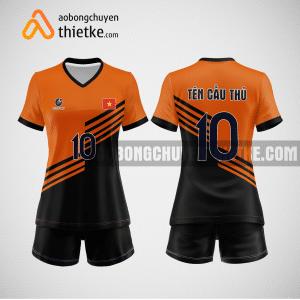 Mẫu áo bóng chuyền thiết kế ngân hàng TCB BCN129 nữ