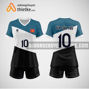 Mẫu áo bóng chuyền thiết kế ngân hàng techcombank BCN128 nữ