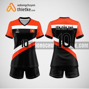 Mẫu áo bóng chuyền thiết kế ngân hàng vietcombank BCN162 nữ