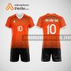 Mẫu áo thi đấu bóng chuyền đẹp màu cam đen BCN486 nam