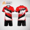 Mẫu áo thi đấu bóng chuyền đẹp màu đỏ đen BCN489 nam