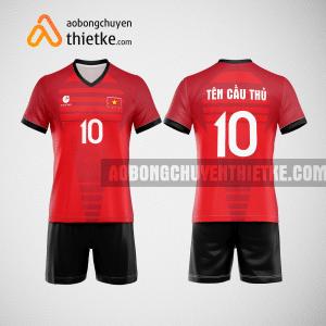 Mẫu áo thi đấu bóng chuyền đẹp màu đỏ tươi BCN497 nam