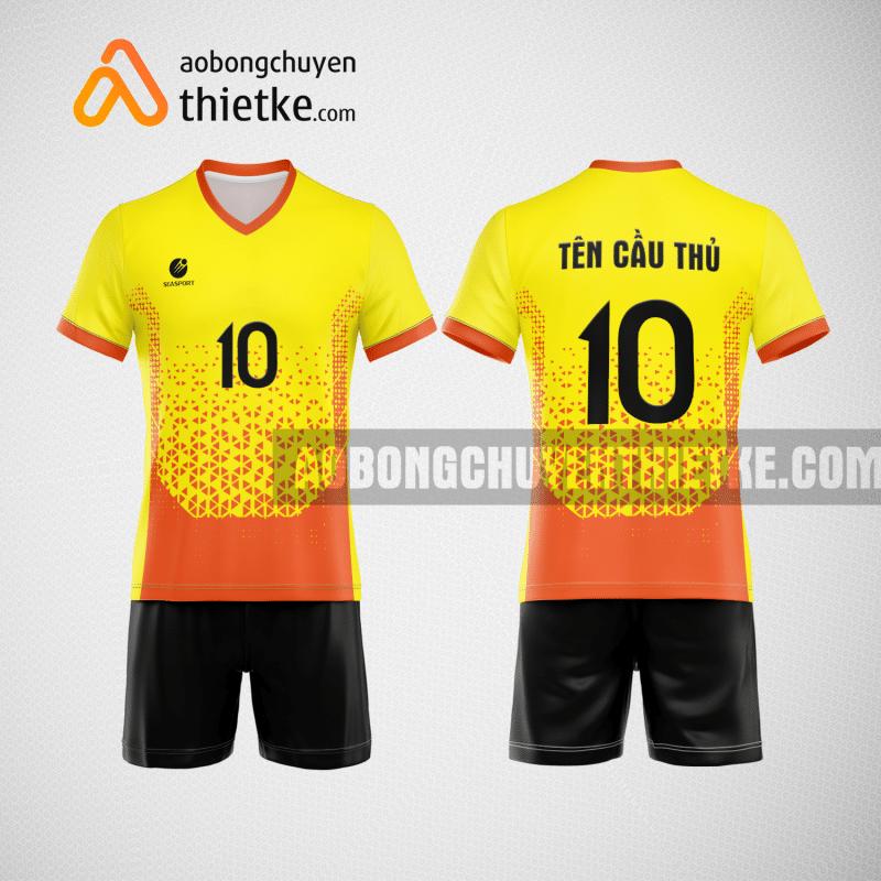 Mẫu áo thi đấu bóng chuyền đẹp màu vàng cam BCN488 nam