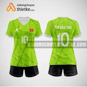 Mẫu áo thi đấu bóng chuyền đẹp màu xanh chuối BCN485 nữ