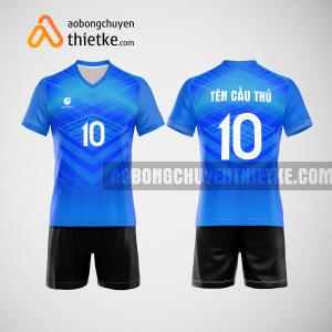 Mẫu áo thi đấu bóng chuyền đẹp màu xanh da trời BCN491 nam