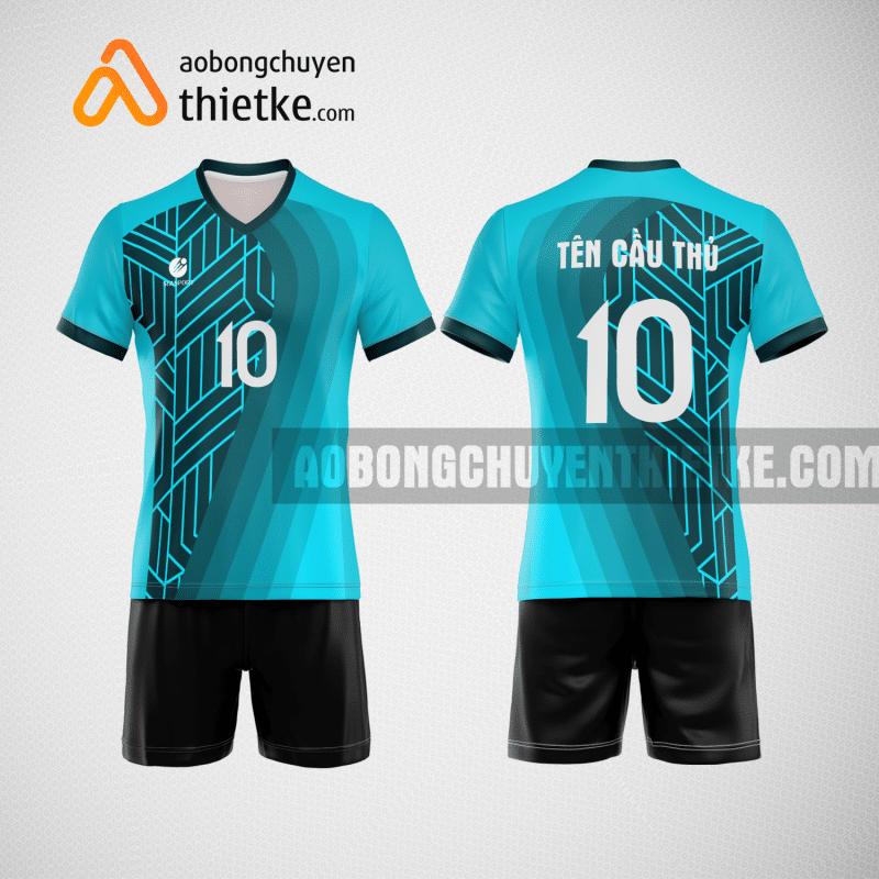 Mẫu áo thi đấu bóng chuyền đẹp màu xanh ngọc BCN487 nam