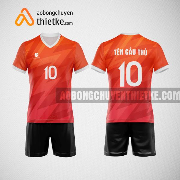 Mẫu áo thi đấu bóng chuyền màu cam BCN484 nam