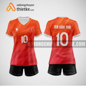 Mẫu áo thi đấu bóng chuyền màu cam BCN484 nữ