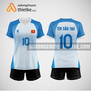 Mẫu quần áo bóng chuyền màu xanh da trời đẹp BCN498 nữ