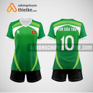 Mẫu quần áo bóng chuyền màu xanh lá cây 2023 BCN501 nữ
