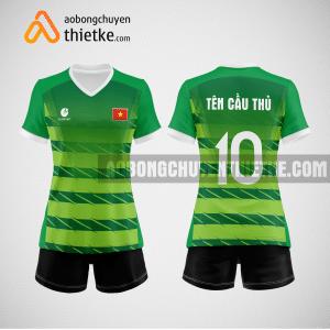 Mẫu quần áo bóng chuyền màu xanh lá cây mới nhất BCN500 nữ
