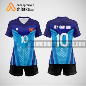 Mẫu quần áo bóng chuyền thi đấu màu xanh dương mới nhất BCN506 nữ