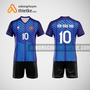 Mẫu quần áo bóng chuyền thi đấu màu xanh tím than BCN504 nam