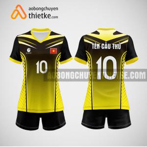 Mẫu quần áo bóng chuyền thi đấu vàng mới nhất BCN508 nữ