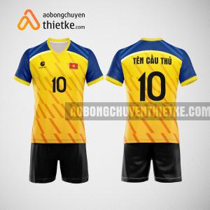 Mẫu quần áo bóng chuyền thi đấu vàng tươi mới nhất BCN507 nam