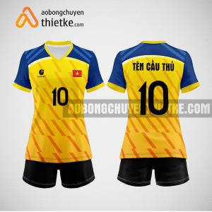 Mẫu quần áo bóng chuyền thi đấu vàng tươi mới nhất BCN507 nữ