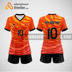 Mẫu quần áo bóng chuyền thiết kế màu cam mới nhất 2022 BCN5145 nữ
