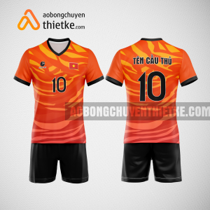 Mẫu quần áo bóng chuyền thiết kế màu cam mới nhất 2022 BCN5145nam
