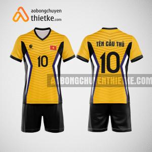 Mẫu quần áo đội tuyển bóng chuyền màu vàng đậm mới nhất BCN513 nam